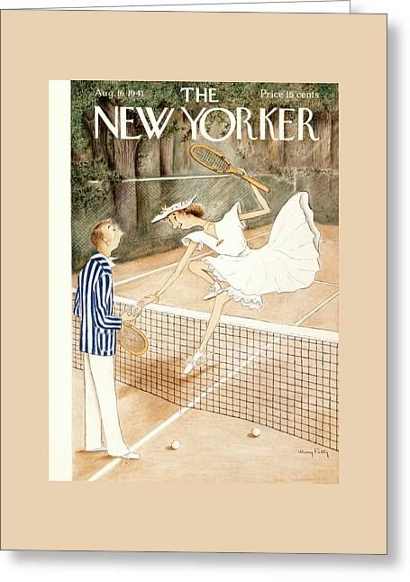 New Yorker August 16th, 1941 Greeting Card by Mary Petty