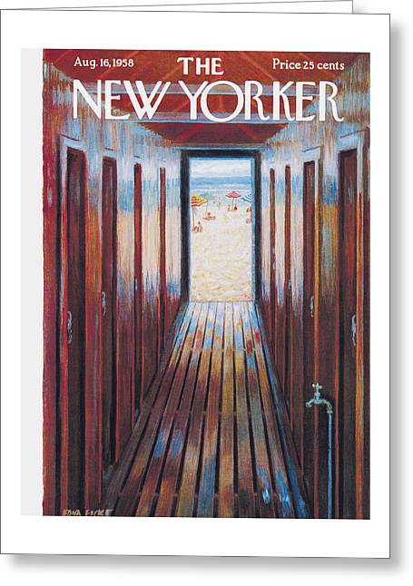 New Yorker August 16th, 1958 Greeting Card