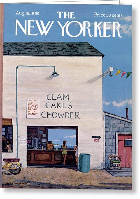 New Yorker August 16th, 1969 Greeting Card by Albert Hubbell