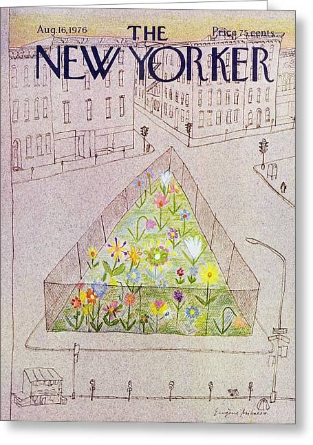 New Yorker August 16th 1976 Greeting Card