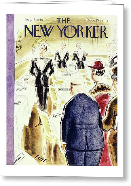 New Yorker August 17 1940 Greeting Card