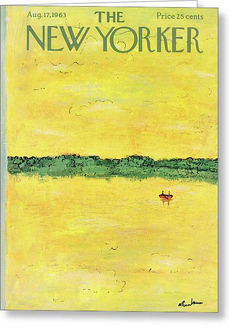 New Yorker August 17th, 1963 Greeting Card by Abe Birnbaum