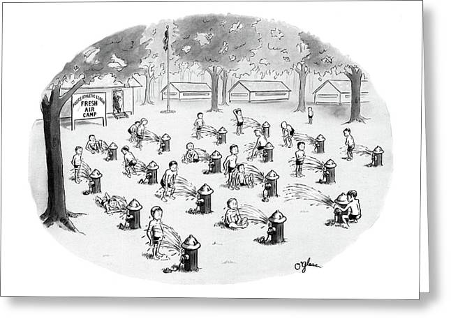 New Yorker August 17th, 1968 Greeting Card by C.E. O'Glass