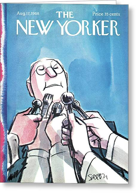 New Yorker August 17th, 1968 Greeting Card by Charles Saxon