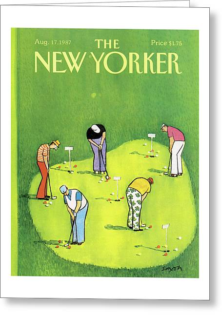 New Yorker August 17th, 1987 Greeting Card