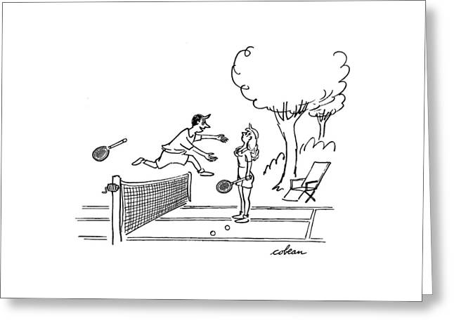 New Yorker August 19th, 1950 Greeting Card by Sam Cobean