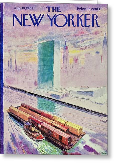 New Yorker August 19th 1961 Greeting Card