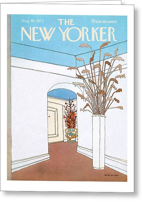 New Yorker August 19th, 1974 Greeting Card