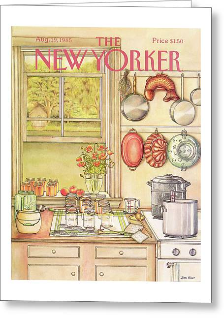 New Yorker August 19th, 1985 Greeting Card