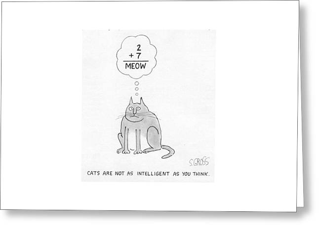 New Yorker August 19th, 1985 Greeting Card by Sam Gross