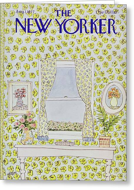 New Yorker August 1st 1977 Greeting Card