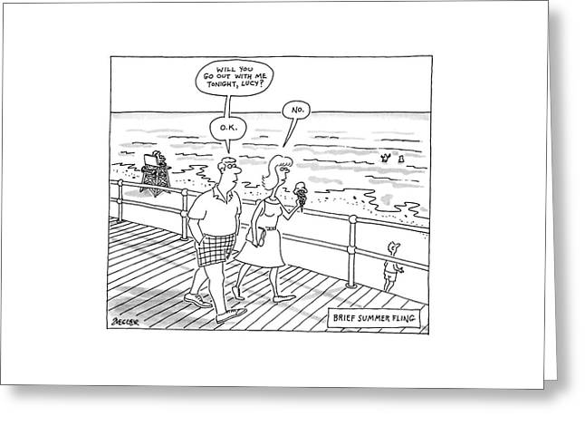 New Yorker August 1st, 1988 Greeting Card