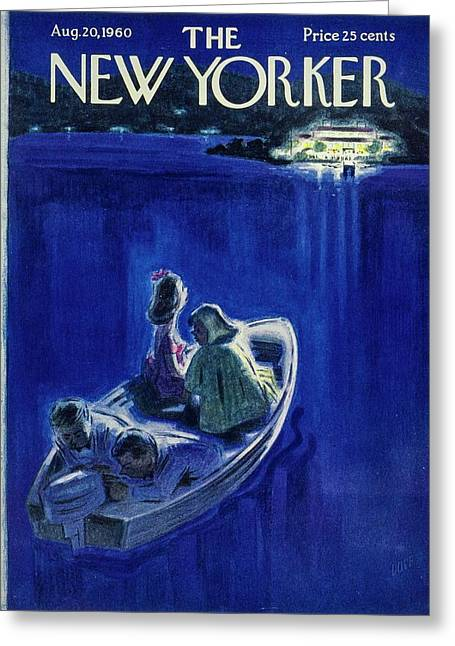 New Yorker August 20th 1960 Greeting Card