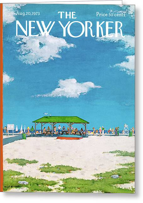 New Yorker August 20th, 1973 Greeting Card by Albert Hubbell