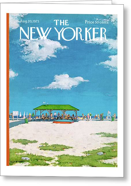 New Yorker August 20th, 1973 Greeting Card