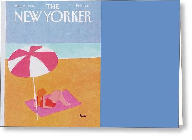 New Yorker August 20th, 1984 Greeting Card by Heidi Goennel