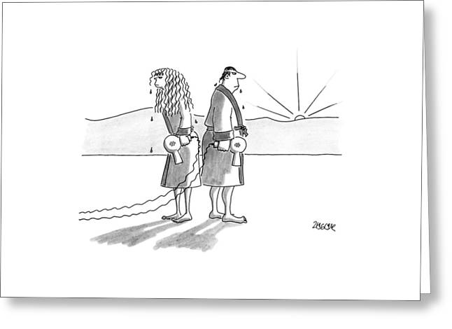 New Yorker August 20th, 1990 Greeting Card by Jack Ziegler