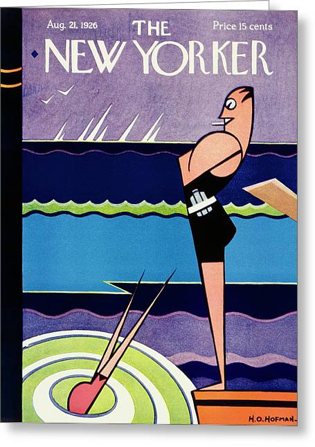 New Yorker August 21 1926 Greeting Card by H O Hofman