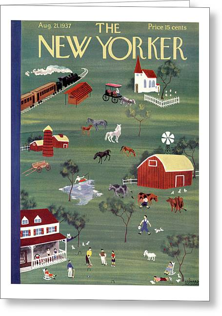 New Yorker August 21st, 1937 Greeting Card