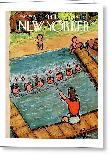 New Yorker August 21st, 1954 Greeting Card