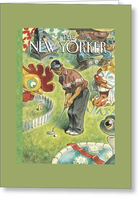 New Yorker August 21st, 2000 Greeting Card by Peter de Seve
