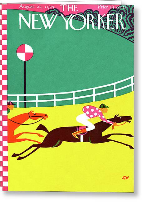 New Yorker August 22nd, 1925 Greeting Card by A.E. Wilson