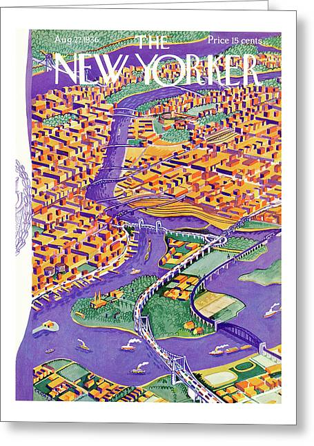 New Yorker August 22nd, 1936 Greeting Card