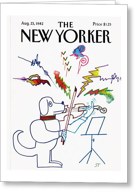 New Yorker August 23rd, 1982 Greeting Card by Saul Steinberg