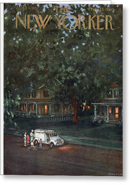 New Yorker August 24th, 1957 Greeting Card