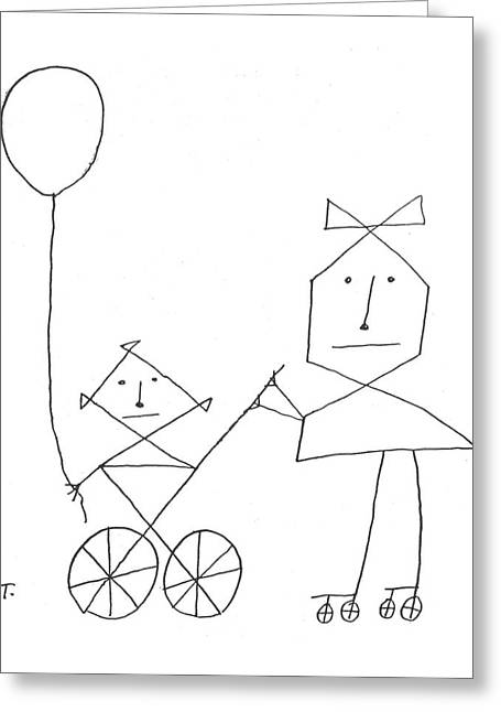 New Yorker August 24th, 1957 Greeting Card by Saul Steinberg