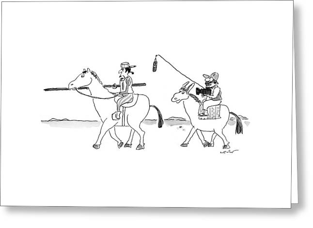 New Yorker August 24th, 1998 Greeting Card by Arnie Levin
