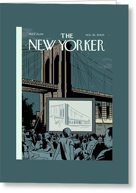 New Yorker August 24th, 2009 Greeting Card by Adrian Tomine