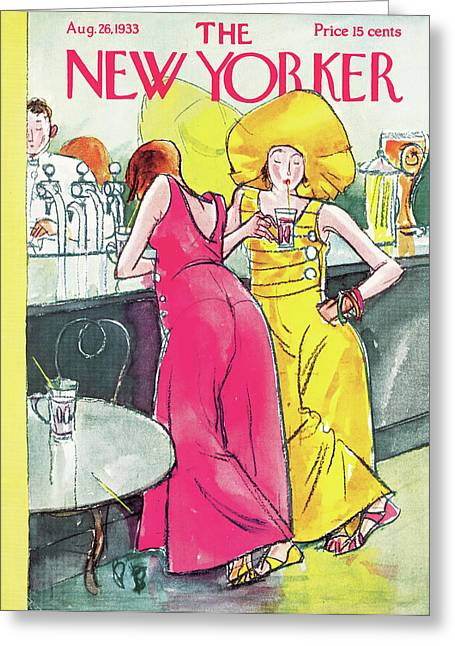 New Yorker August 26th, 1933 Greeting Card
