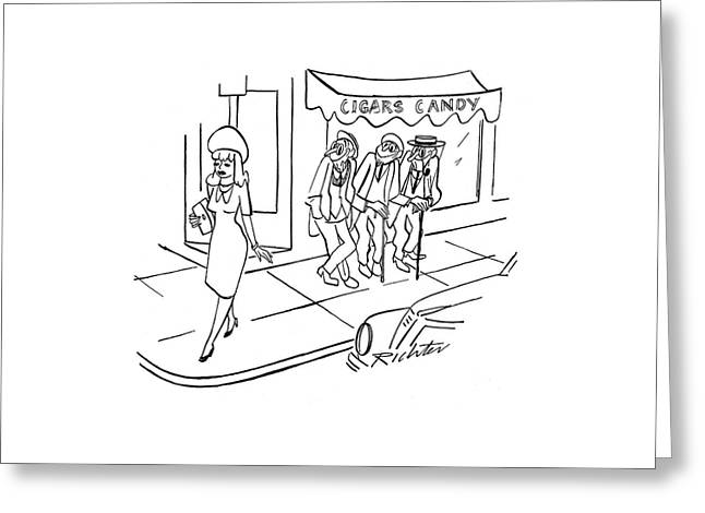 New Yorker August 26th, 1944 Greeting Card