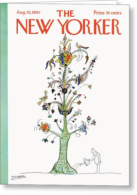 New Yorker August 26th, 1967 Greeting Card