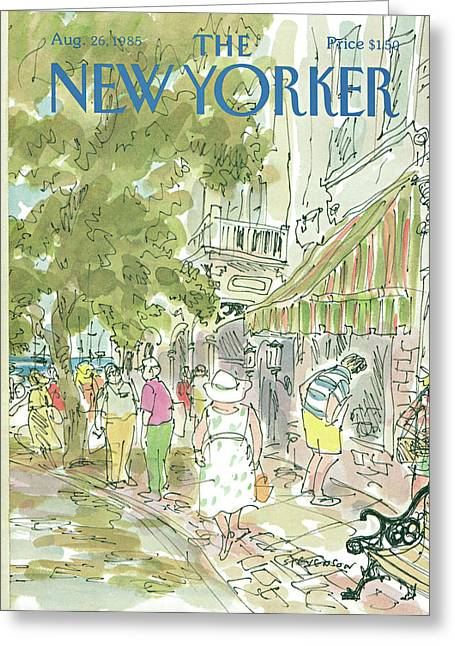 New Yorker August 26th, 1985 Greeting Card