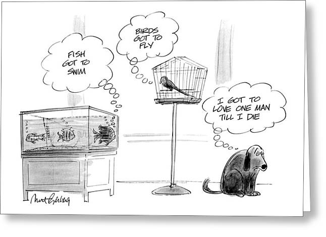 New Yorker August 26th, 1991 Greeting Card