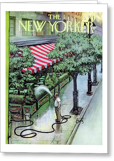 New Yorker August 27th, 1955 Greeting Card