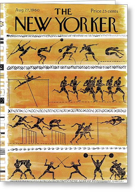 New Yorker August 27th, 1960 Greeting Card by Anatol Kovarsky
