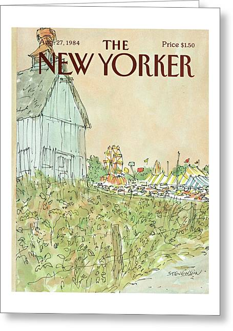 New Yorker August 27th, 1984 Greeting Card