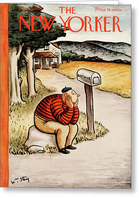 New Yorker August 29th, 1936 Greeting Card by William Steig