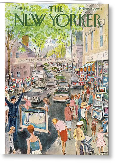 New Yorker August 29th, 1959 Greeting Card