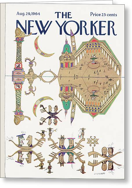 New Yorker August 29th, 1964 Greeting Card