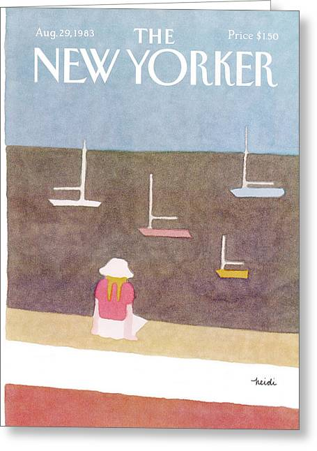 New Yorker August 29th, 1983 Greeting Card by Heidi Goennel