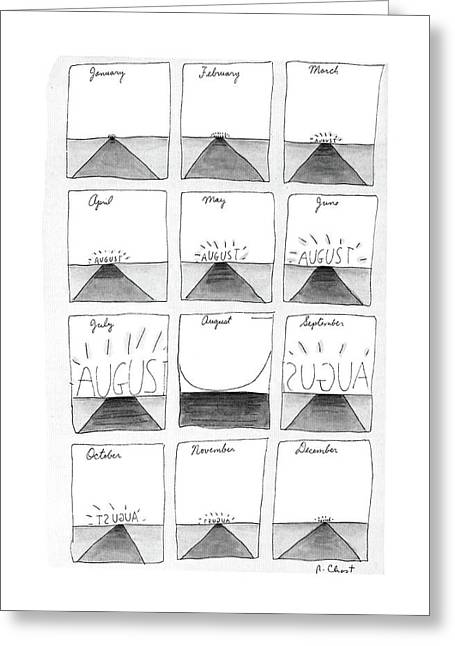 New Yorker August 29th, 1988 Greeting Card