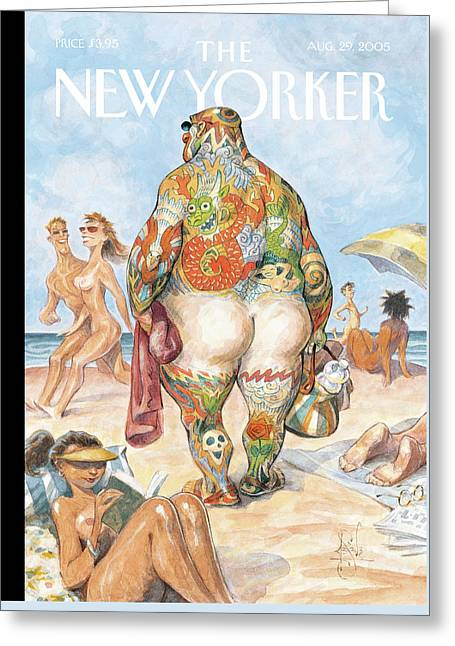 New Yorker August 29th, 2005 Greeting Card by Peter de Seve