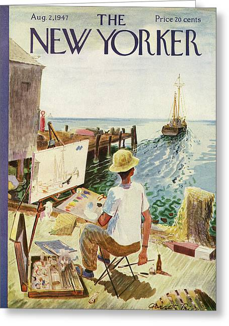 New Yorker August 2nd, 1947 Greeting Card