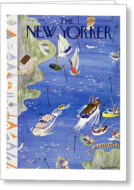 New Yorker August 3 1940 Greeting Card