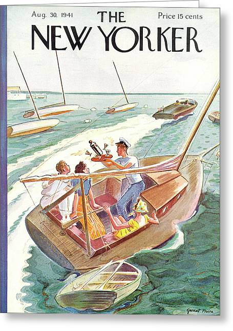 New Yorker August 30th, 1941 Greeting Card