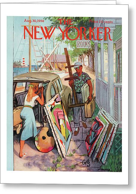 New Yorker August 30th, 1958 Greeting Card